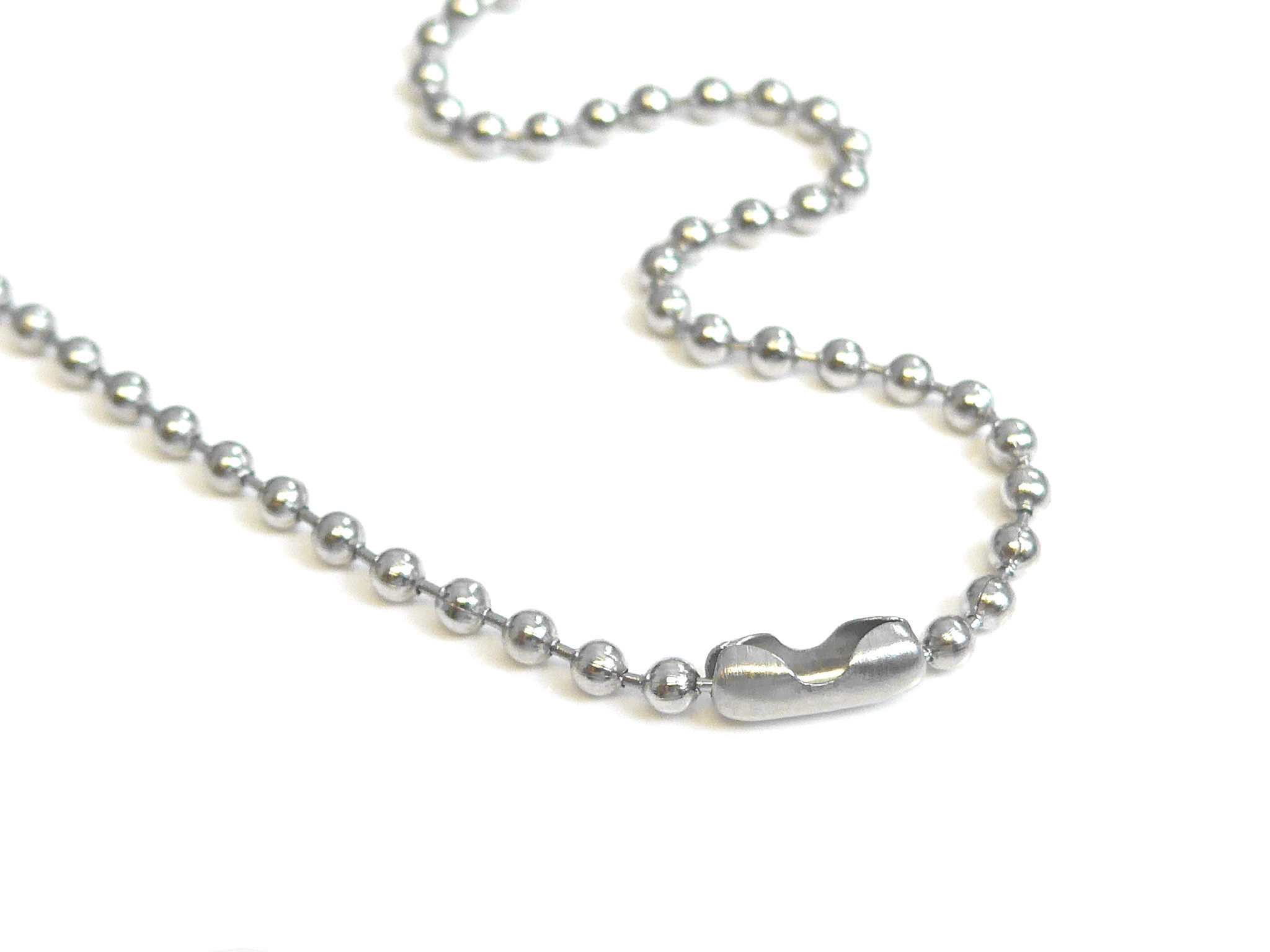 Stainless Steel Ball Chain Necklace 30 Inches 2.4mm Size  3 Pack of 50 –  LjDeals f7b33ffa2bef