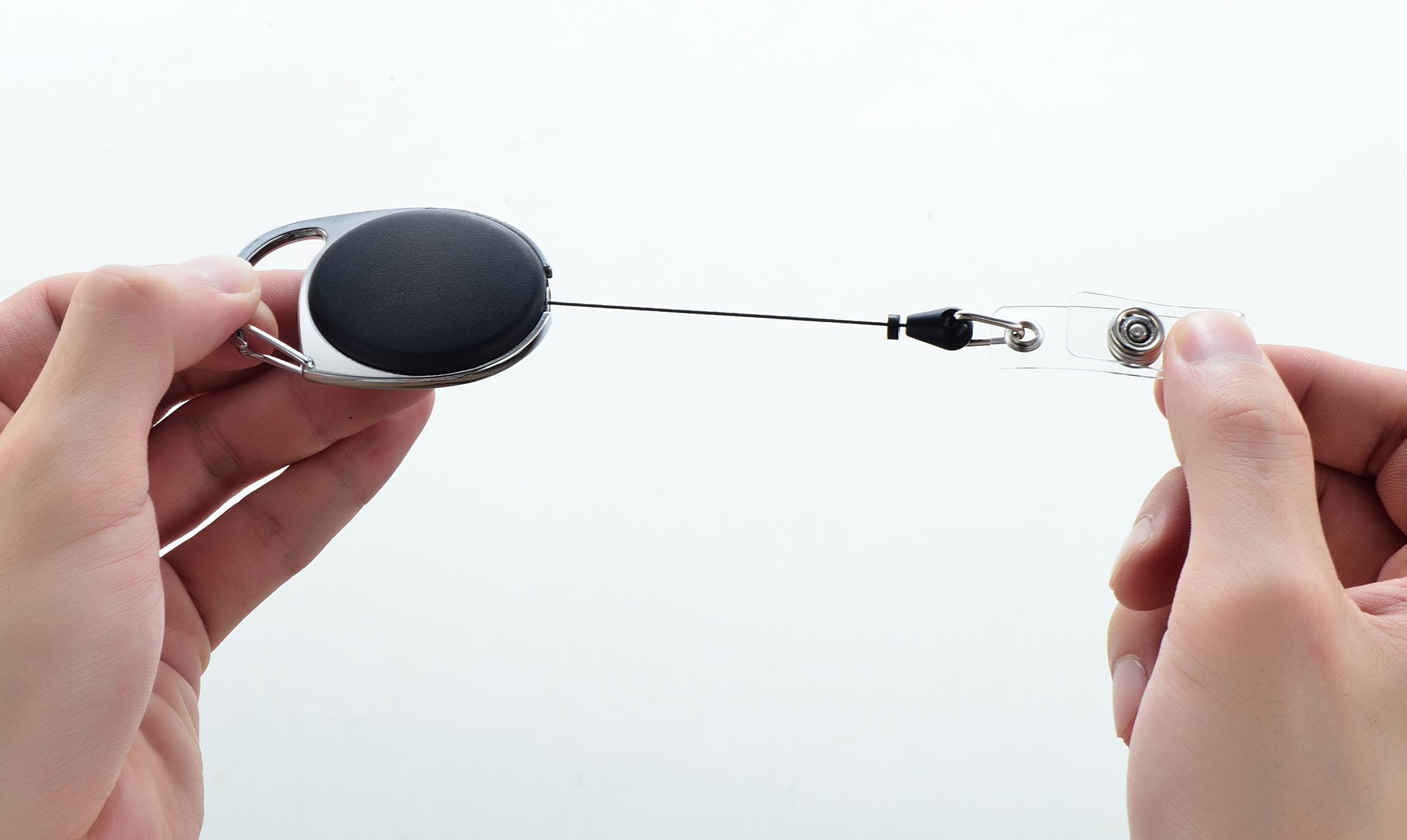 Retractable Extension Cord Reel >> Retractable Badge Holder Carabiner Reel Clip On ID Card ...
